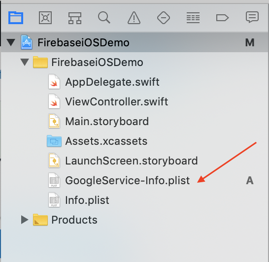 add-firebase-plist-file-to-project-navigator