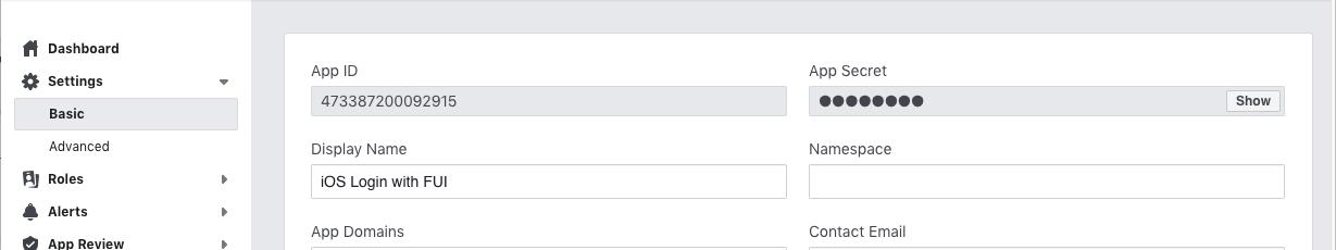 facebookappid-appsecret