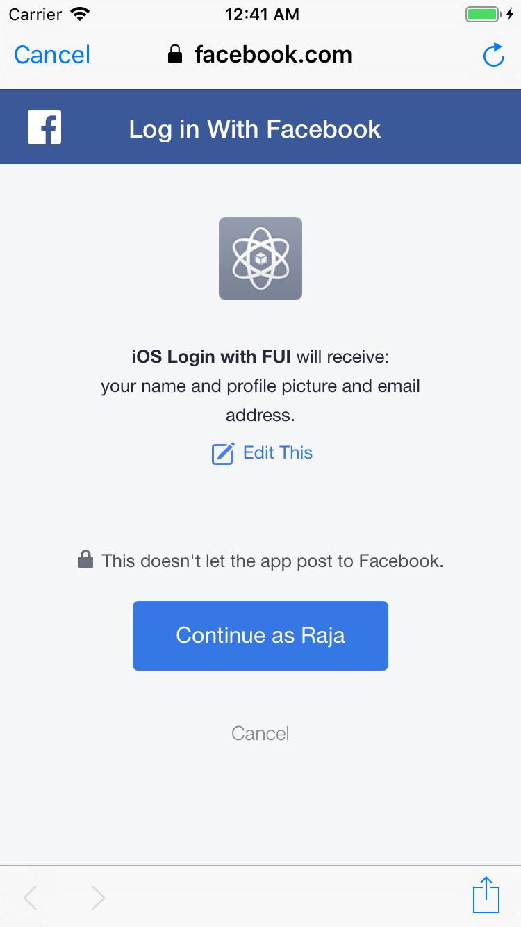 iOS Facebook Login Using FirebaseUI in 19 MINS