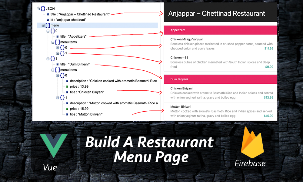 Vue js + Firebase: Build A Restaurant Menu Page Quickly